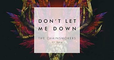 The Chainsmokers ft. Daya - Don't let me down
